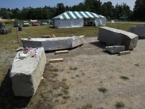 Schoodic: My three stones on site