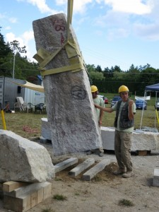 Schoodic: Standing up the tall stone