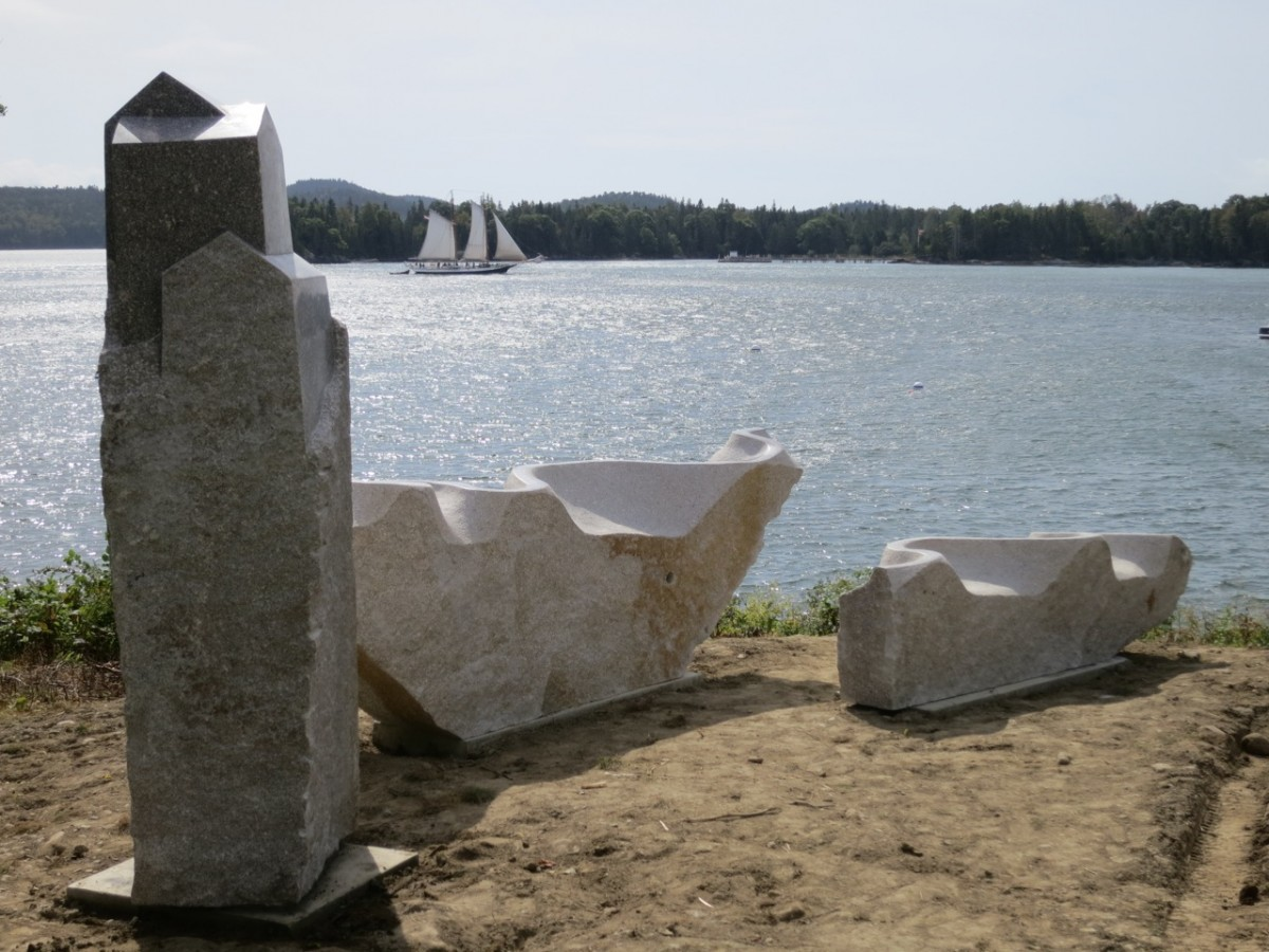Home and Away, granite, 2014. Castine ME