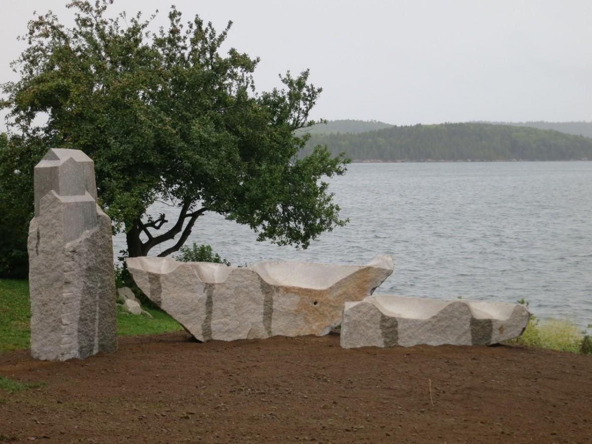 Home and Away, granite, 2014, Castine, ME