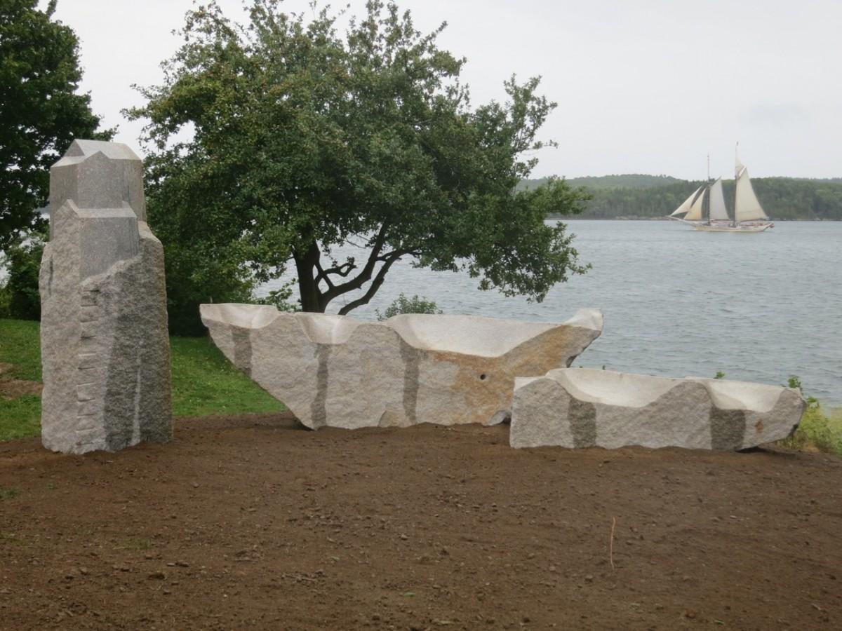 Home and Away, granite, 2014. Castine, ME