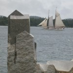 Home and Away, Detail. Granite, 2014. Castine, ME